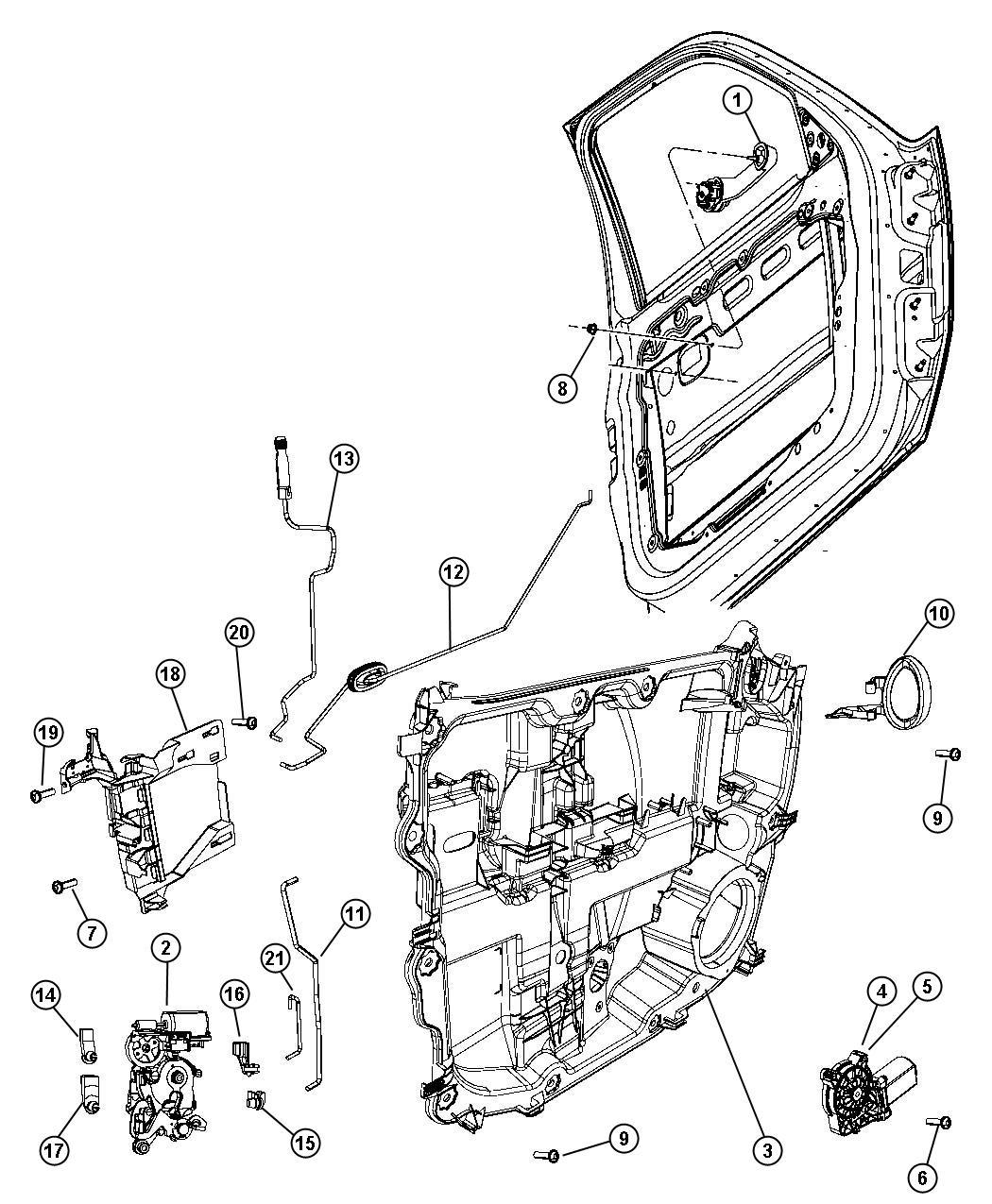 Dodge Nitro Latch Left Front Door Module Lock