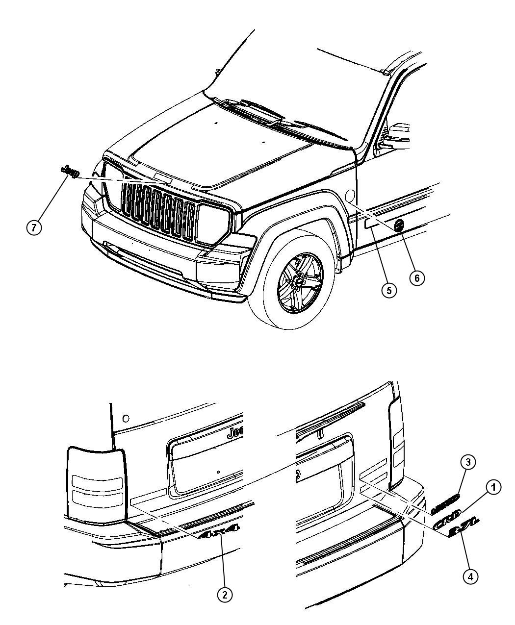 Jeep Liberty Medallion Trail Rated Fender