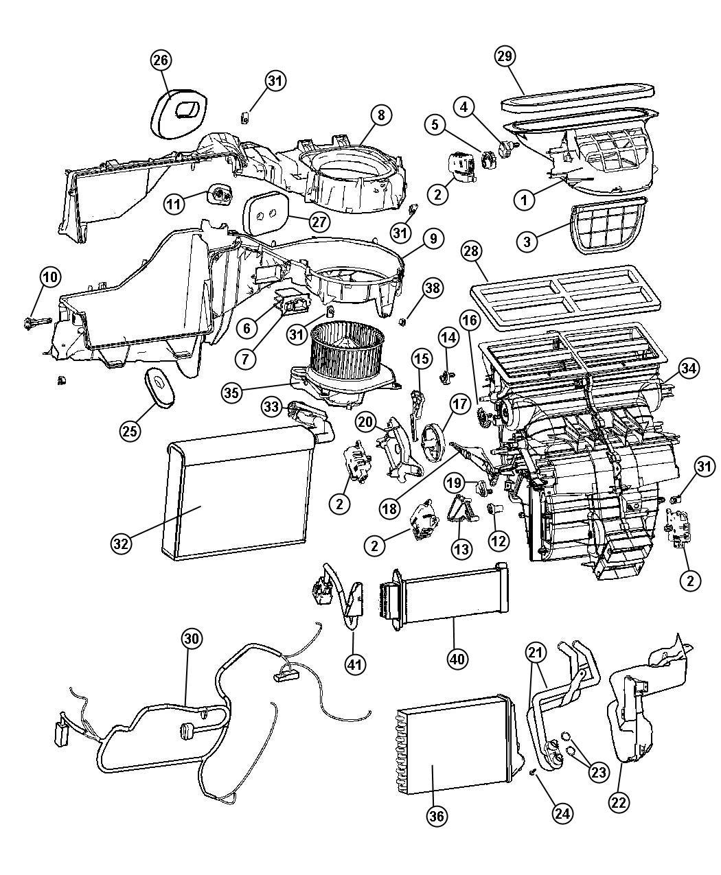 Dodge Ram O Ring Heater Core Heater Core Tubes