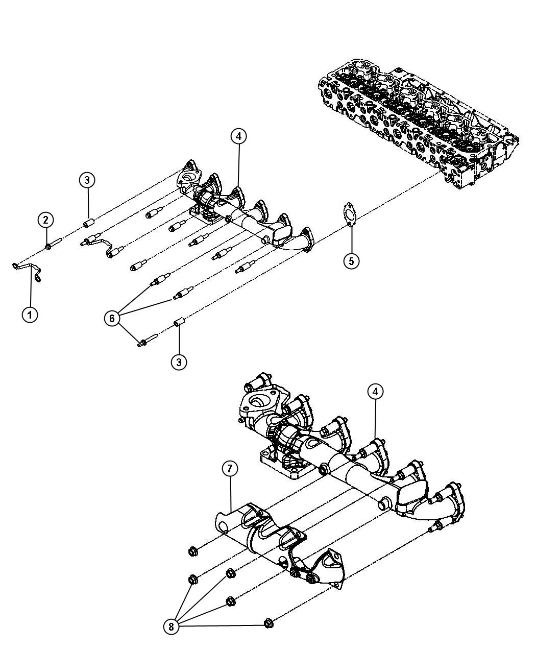 Dodge Ram Shield Heat Exhaust Manifold Emissions