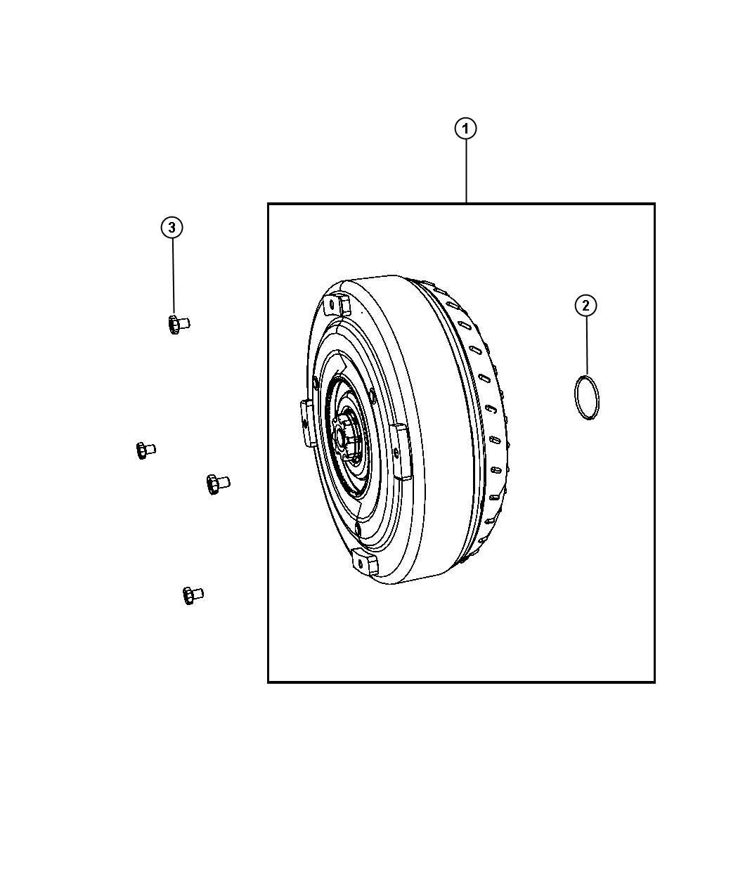 Chrysler Aspen Converter Package Torque Converter