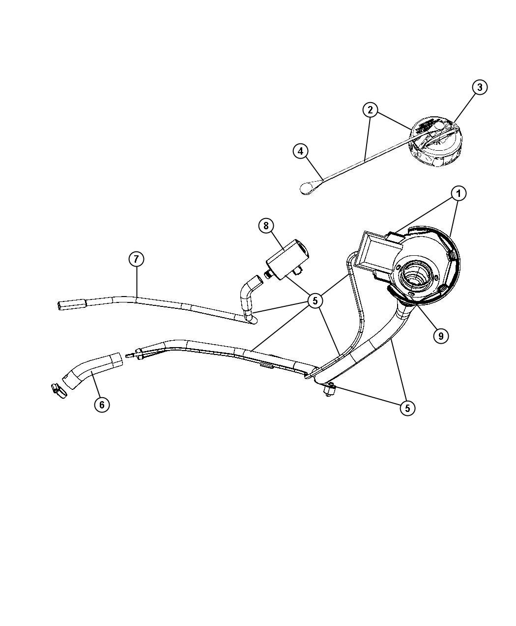 Chrysler Aspen Hose Vacuum Natural Leak Detection