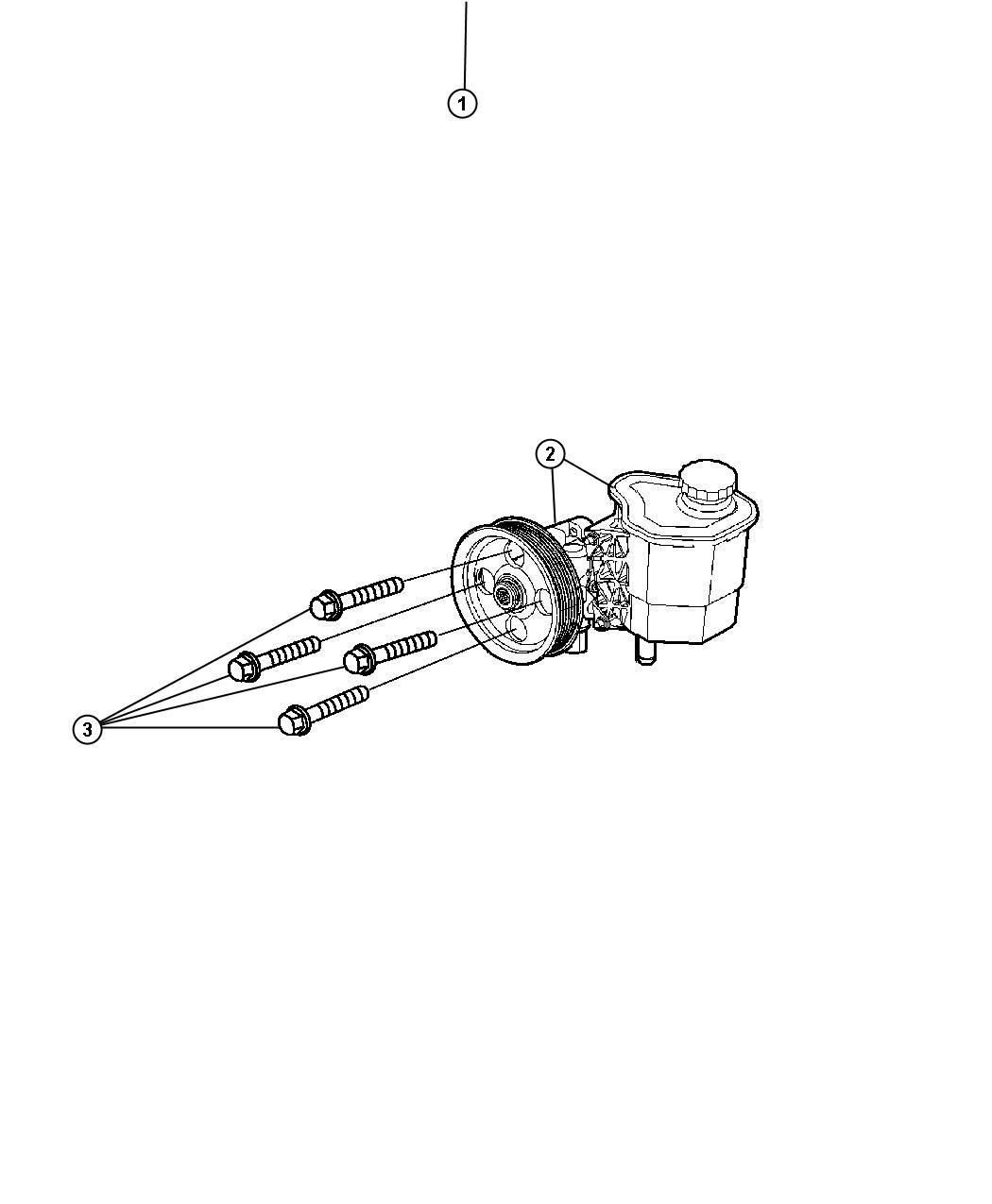 Chrysler Aspen Kit Pump Amp Pulley Steering Power