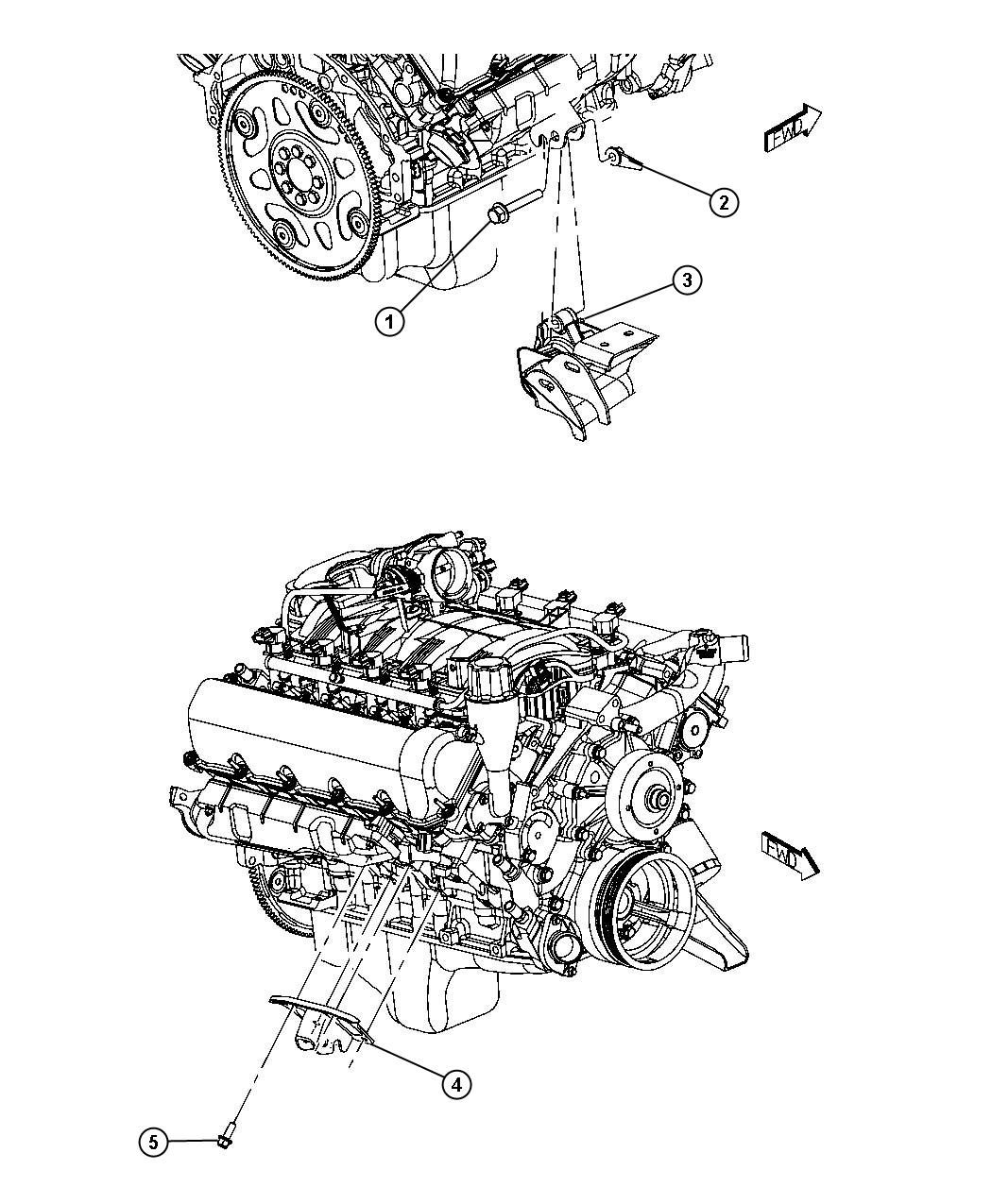 Dodge Durango Bracket Engine Mount Front Right
