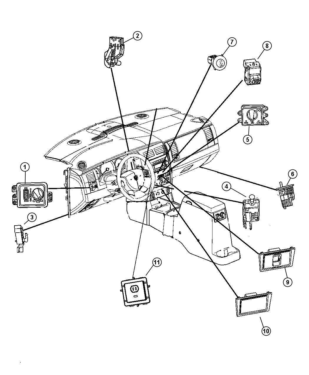 Chrysler Aspen Switch Headlamp Automatic Headlamps