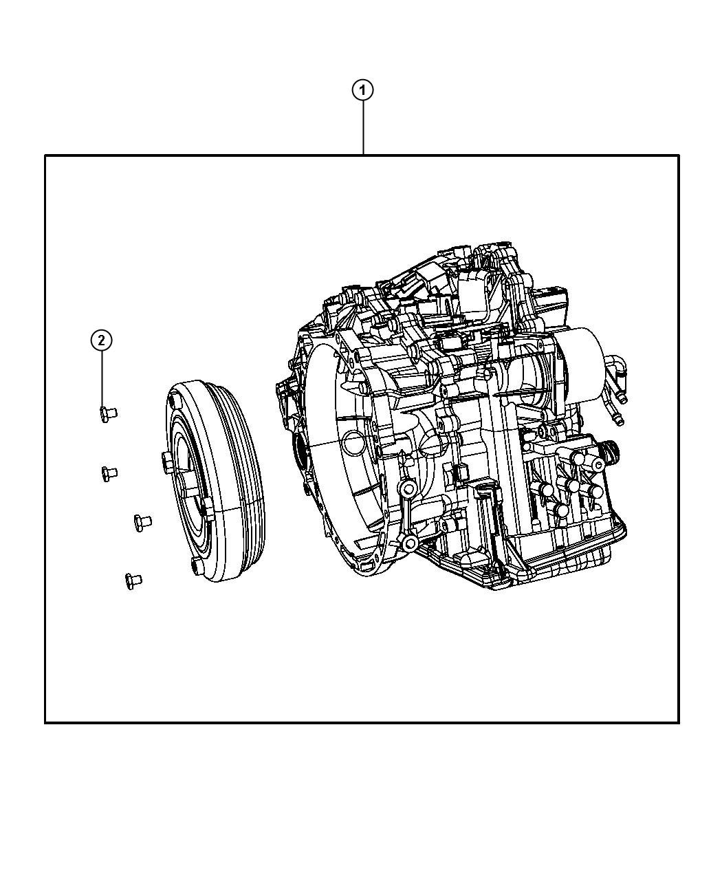 Jeep Patriot Transaxle Package With Torque Converter
