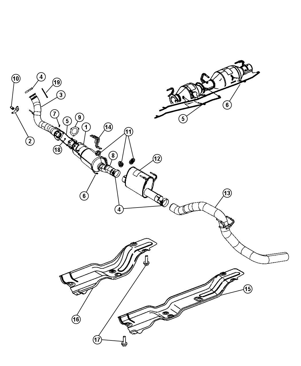 Dodge Ram Converter Catalytic Includes Particulate