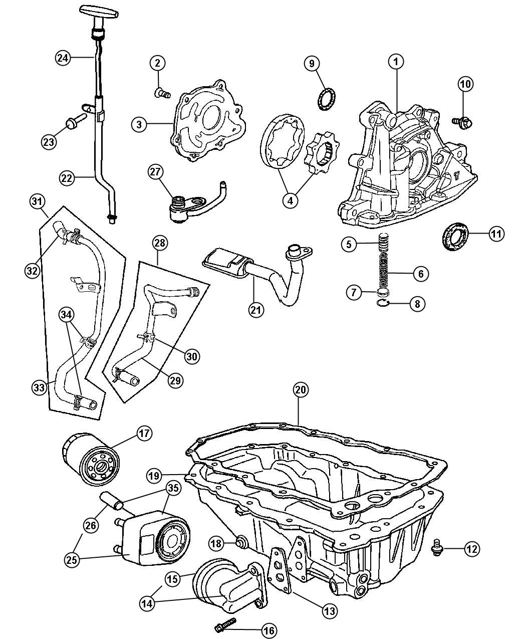 Chrysler Pt Cruiser Cooler Engine Oil
