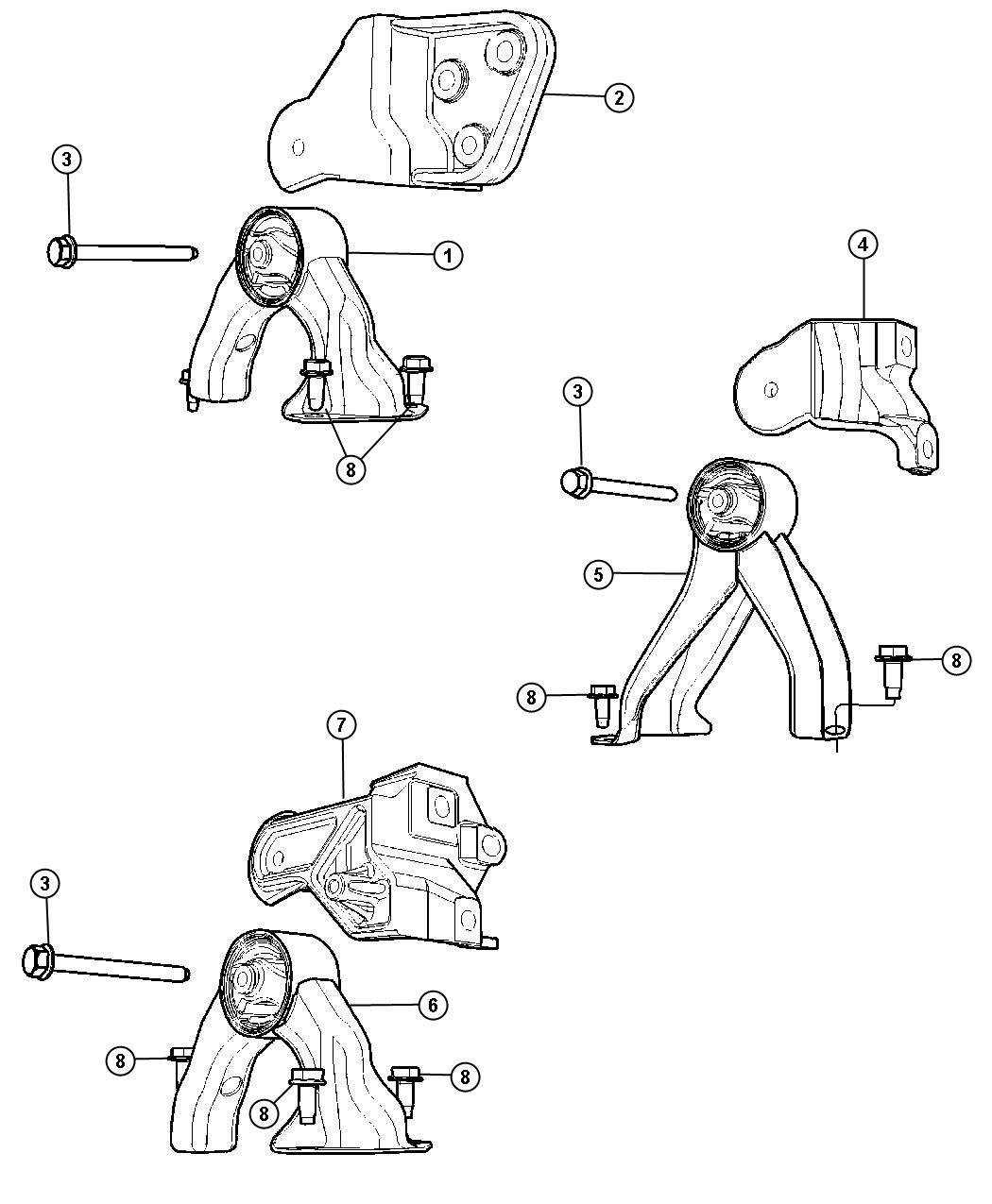 Jeep Compass Insulator Rear Front Suspension Parts