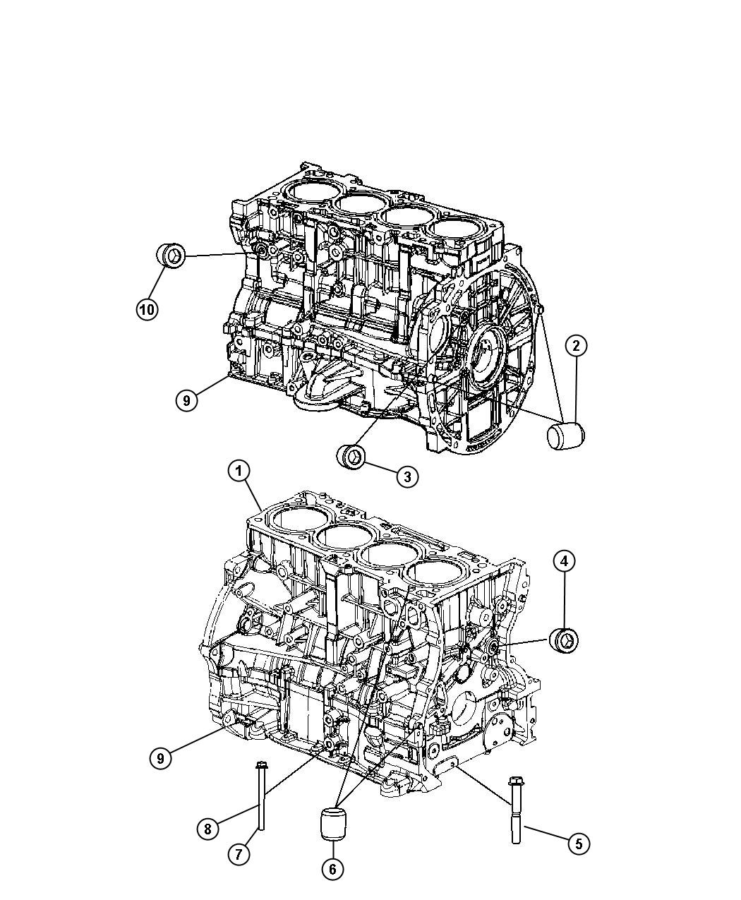 Jeep Patriot Engine Short Block