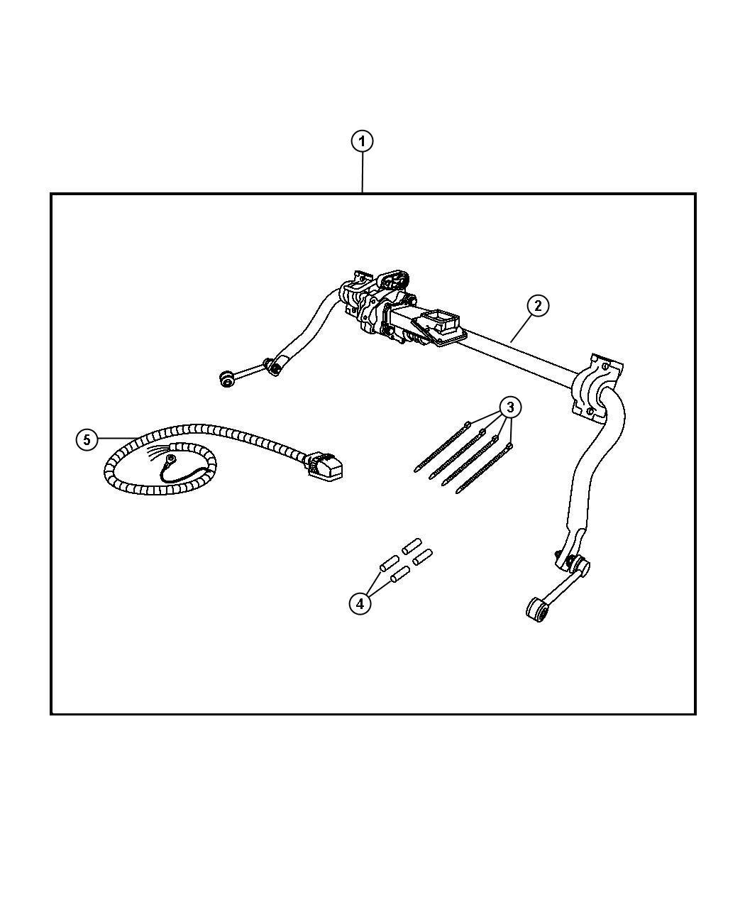 Jeep Wrangler Harness Trailer Bar Electronic Kit