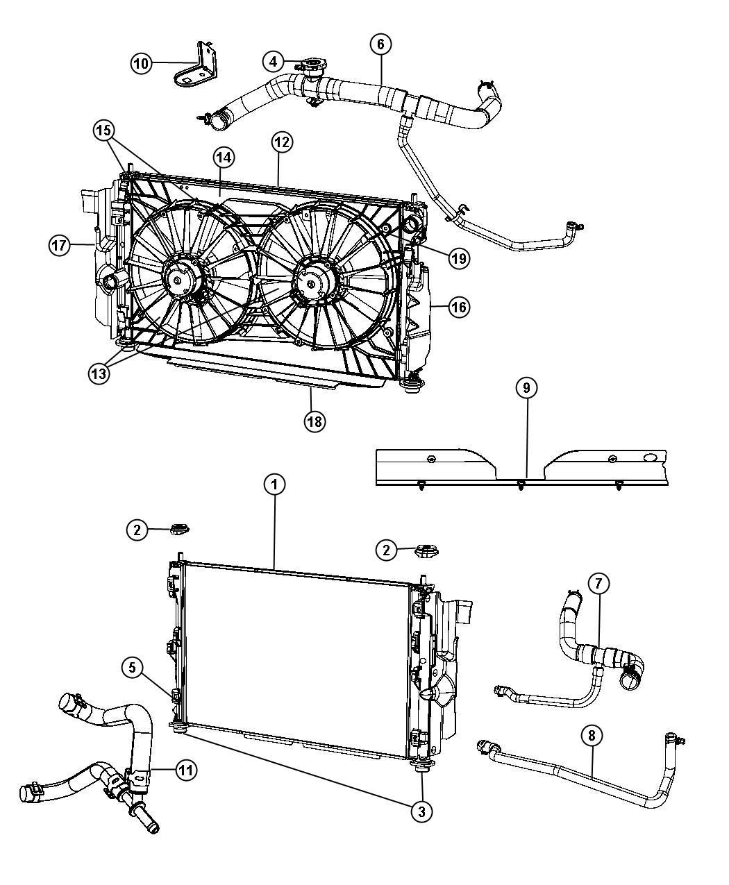 Chrysler Sebring Hose Coolant