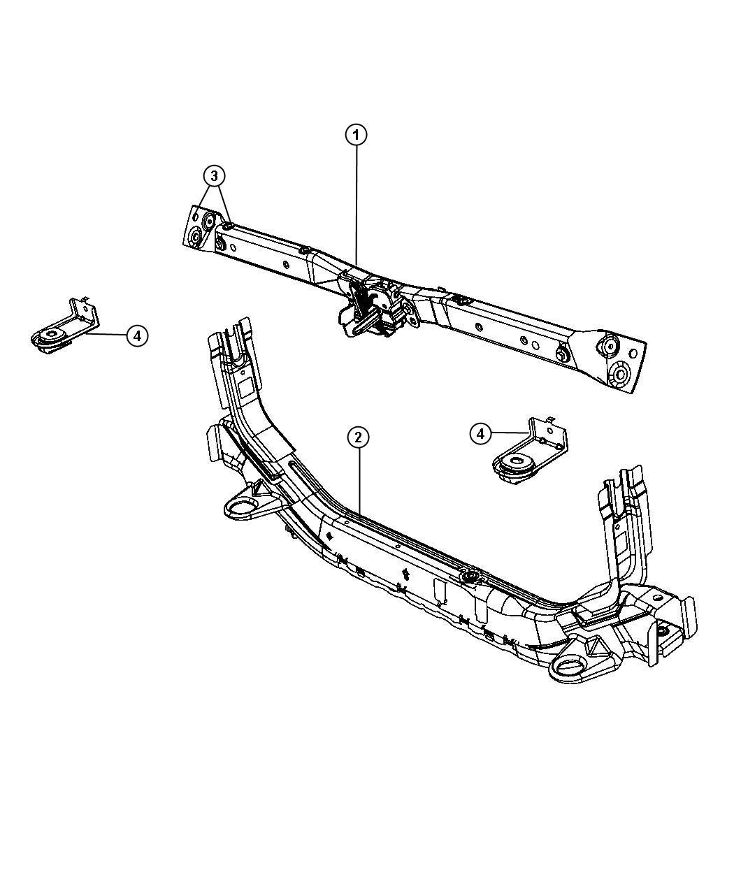 Dodge Caliber Crossmember Front Side Rail Lower