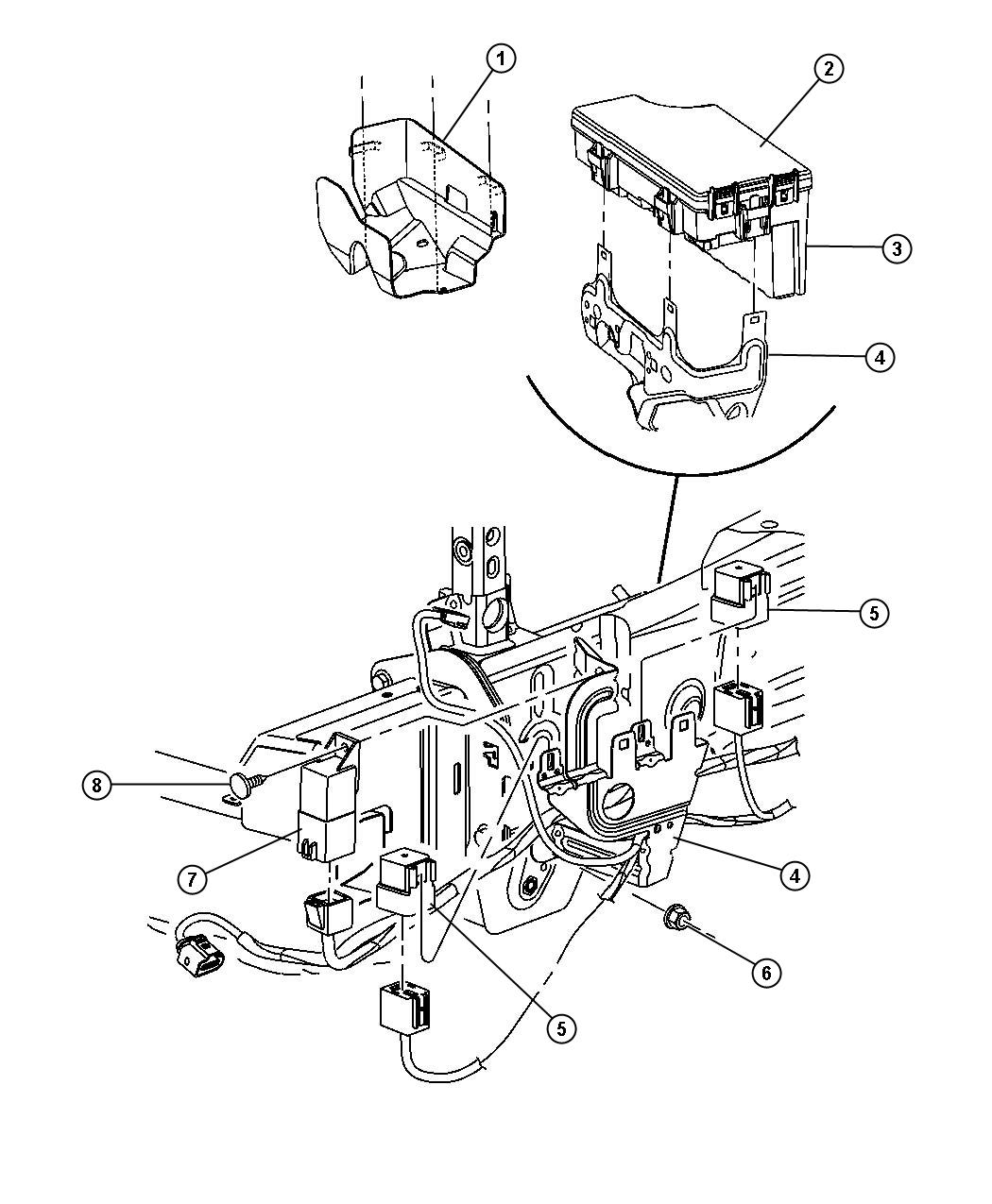 Dodge Caliber Module Totally Integrated Power