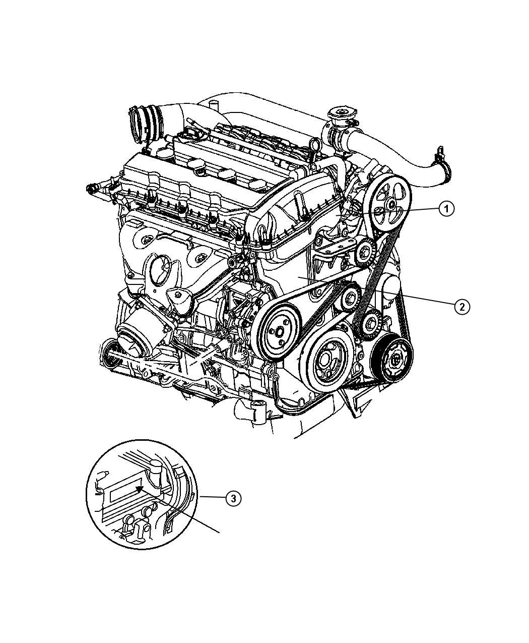 Dodge Caliber Engine Long Block Remanufactured