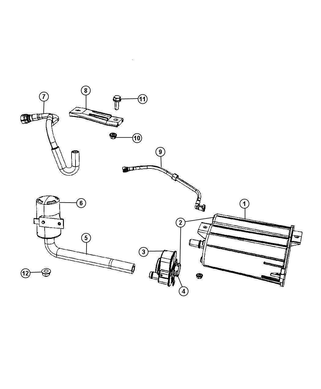 Dodge Caliber Hose Fuel Tank Vent Line Fuel Vapor