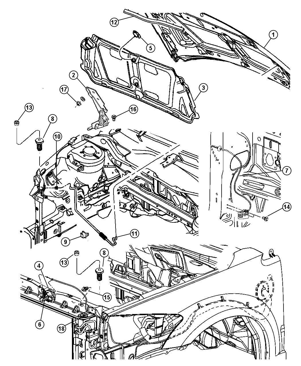 Dodge Caliber Prop Hood Without Hood Power Bulge