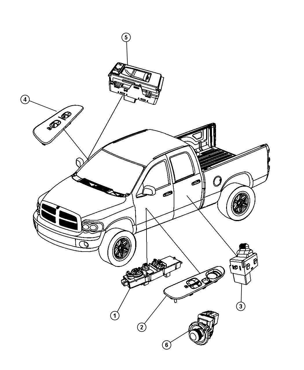 2001 Dodge Dakota Door Diagram