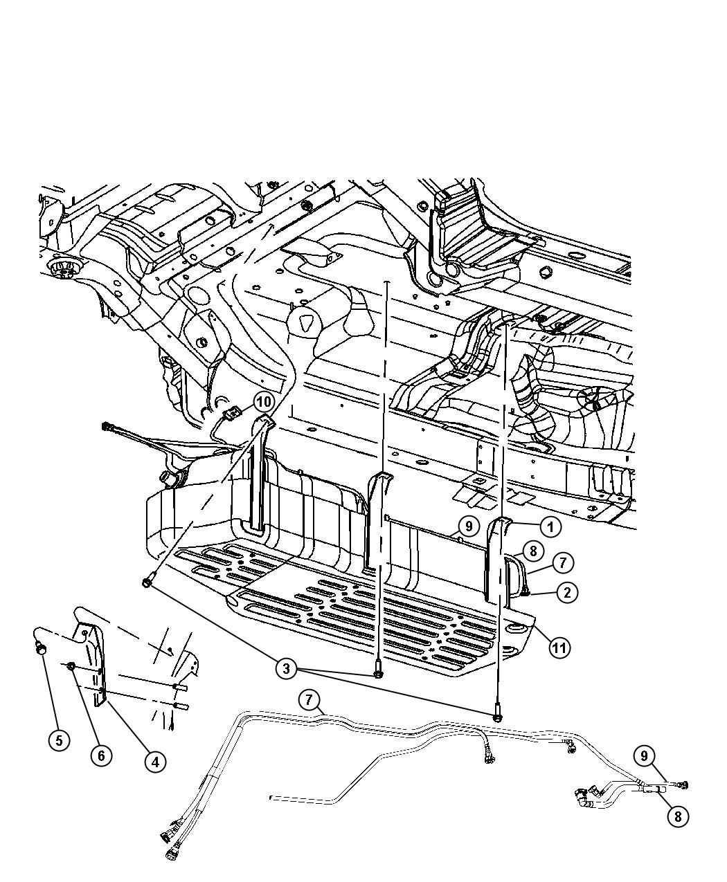 Dodge Grand Caravan Skid Plate Fuel Tank Fuel Tank Skid