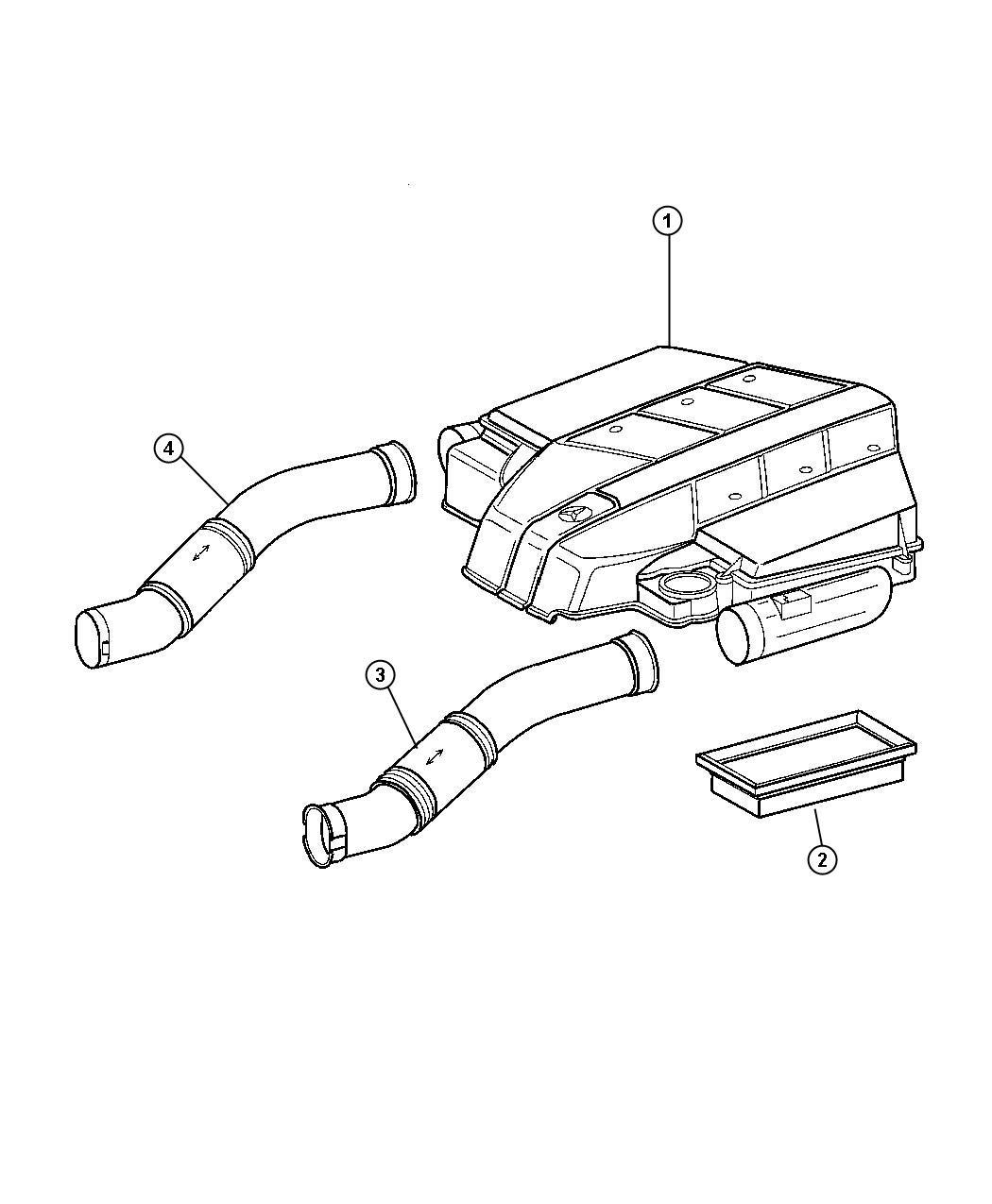 chrysler crossfire element air cleaner order 1 2