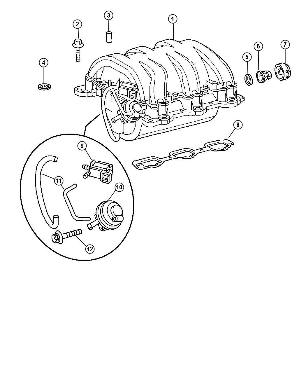 Chrysler Crossfire Manifold Intake Exhaust Manifolds