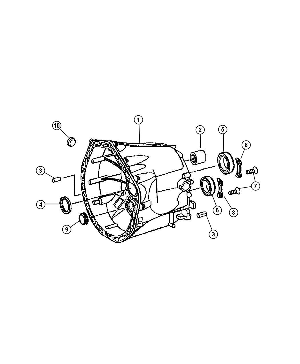 Chrysler Crossfire Case Transmission Clutch