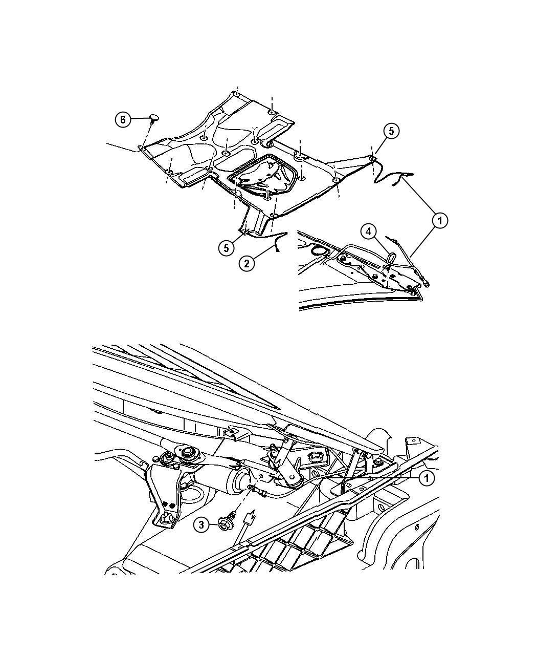 Dodge Viper Push Pin Ground Strap To Hood Inner