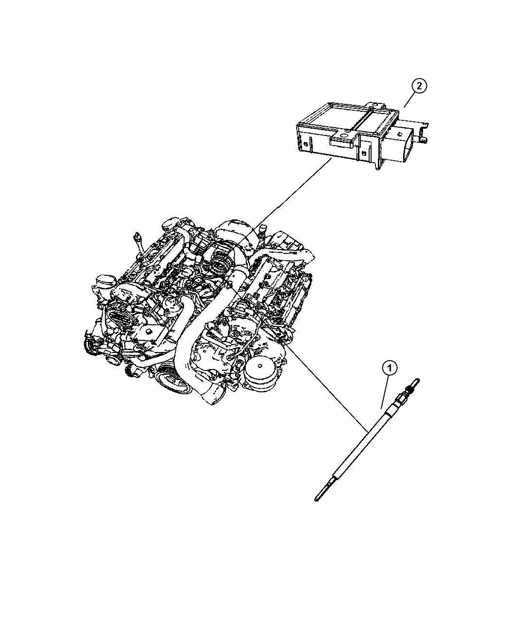 Dodge Sprinter Module Glow Plug Plugs Engine Electrical