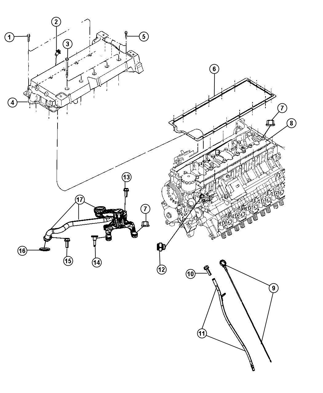 Dodge Viper Tube Engine Oil Indicator Level Related