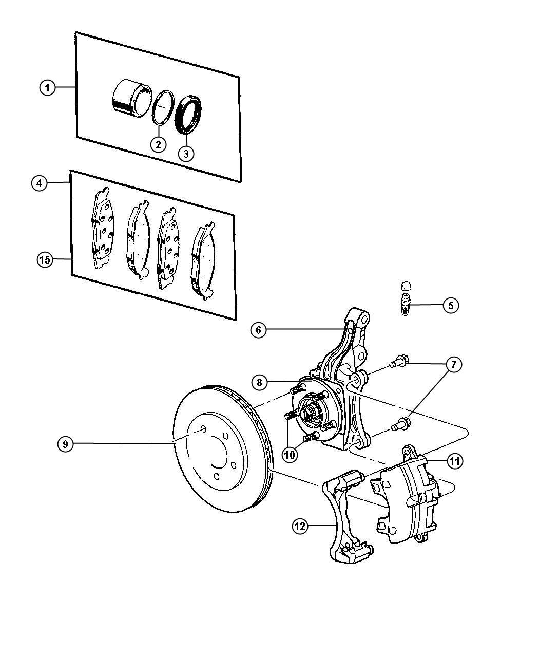 Jeep Patriot Pin Right Or Left Caliper Disc Lock Wheel