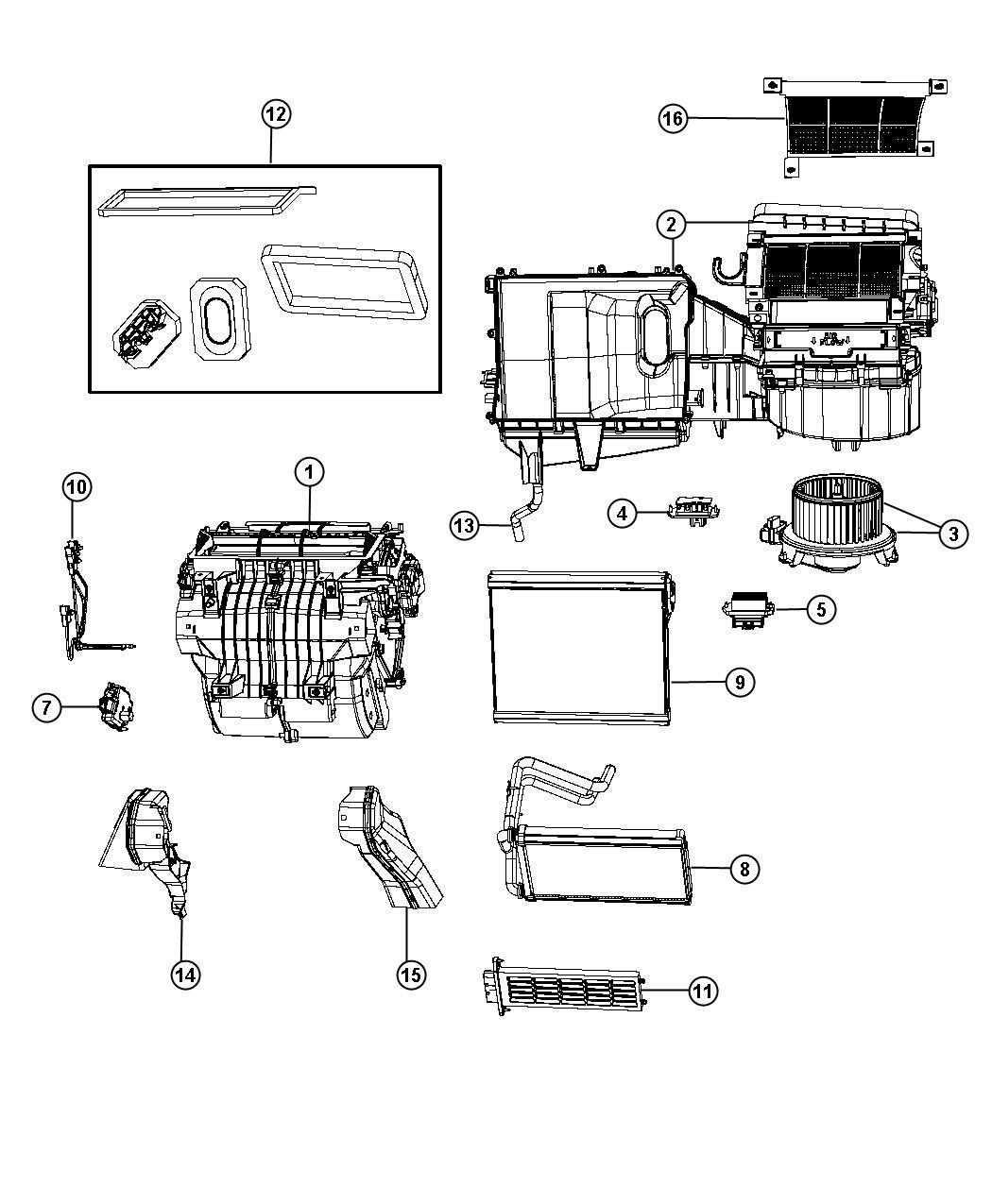 Jeep Patriot Core Heater Instrument Module Panel
