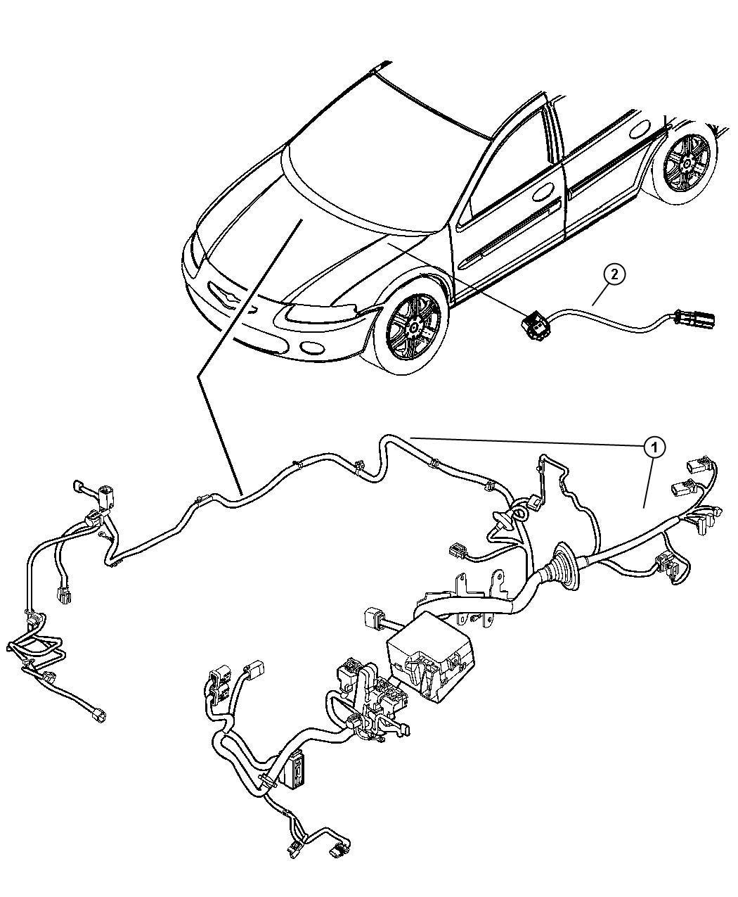 Chrysler Sebring Wiring Jumper Brake Master Cylinder