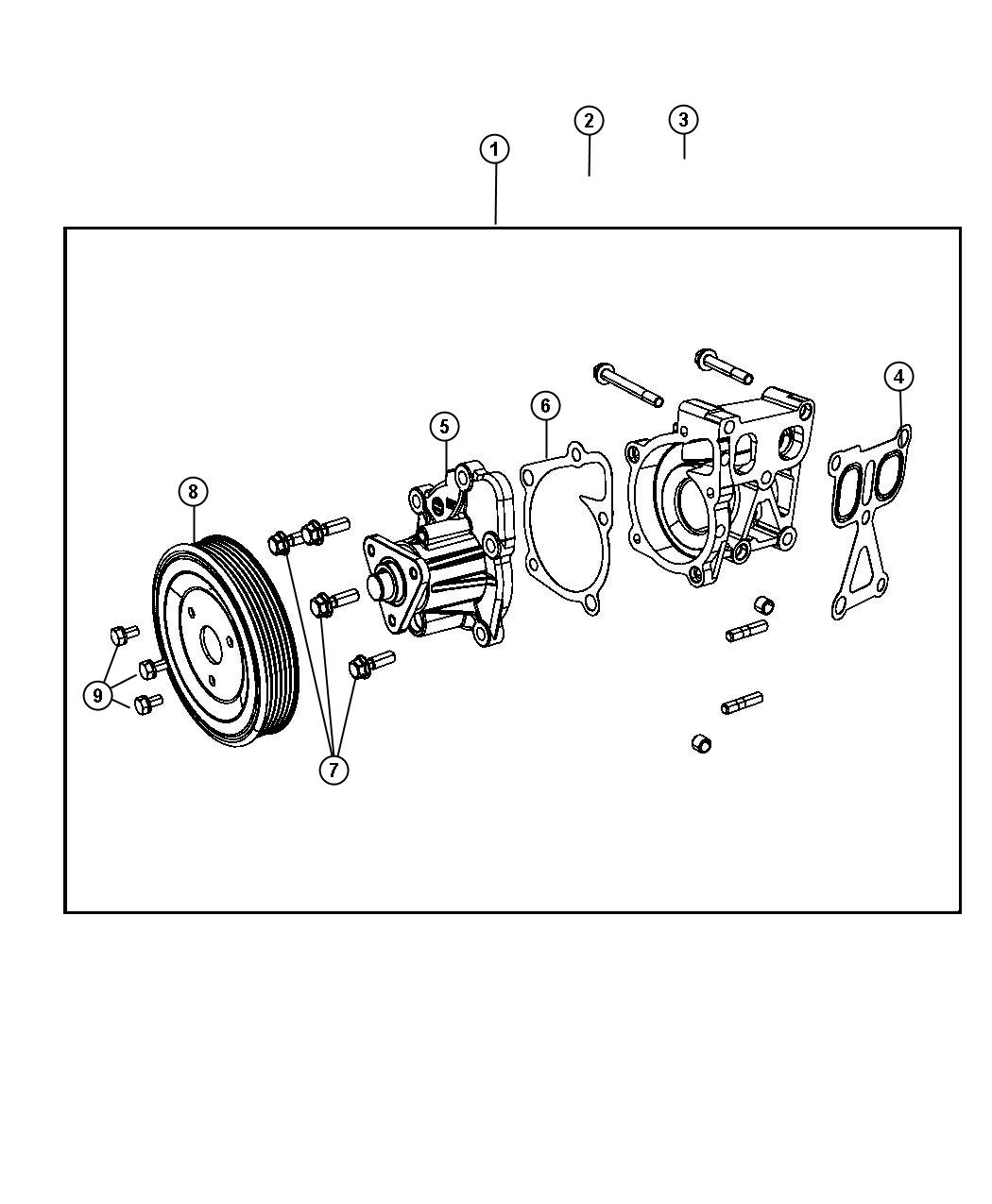 Chrysler Sebring Pump Water Pump Only Without Pulley