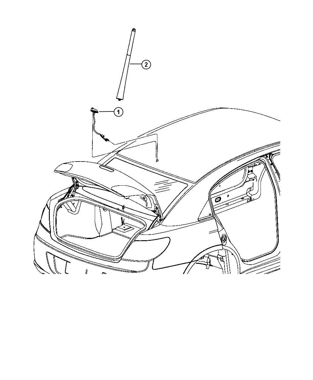 Dodge Avenger Mast Antenna Removable Short Mast