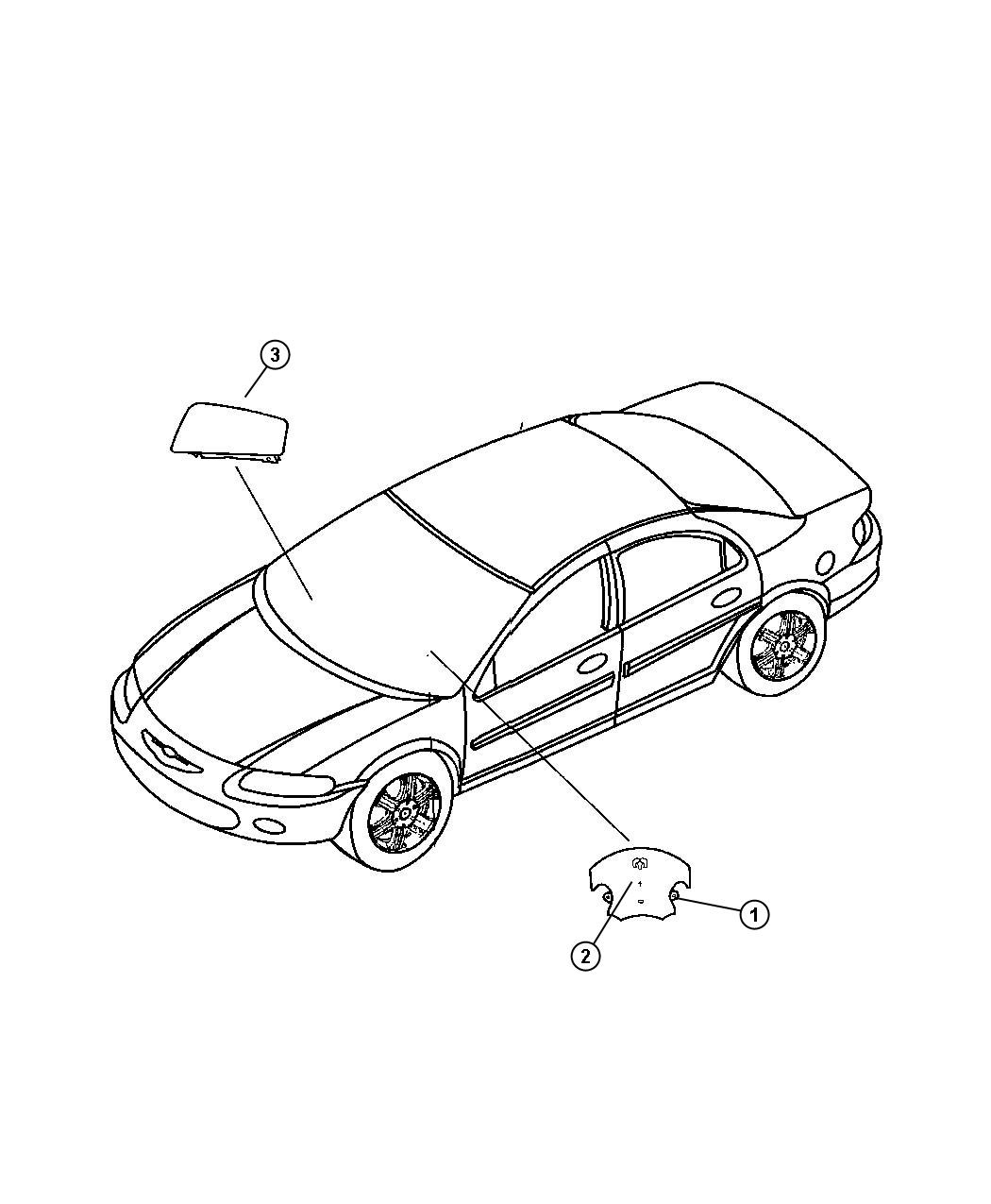 Dodge Avenger Air Bag Driver Trim All Trim Codes