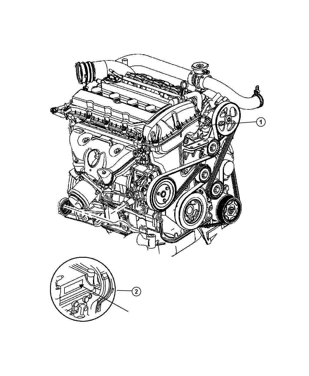 Chrysler Sebring Engine Long Block Remanufactured