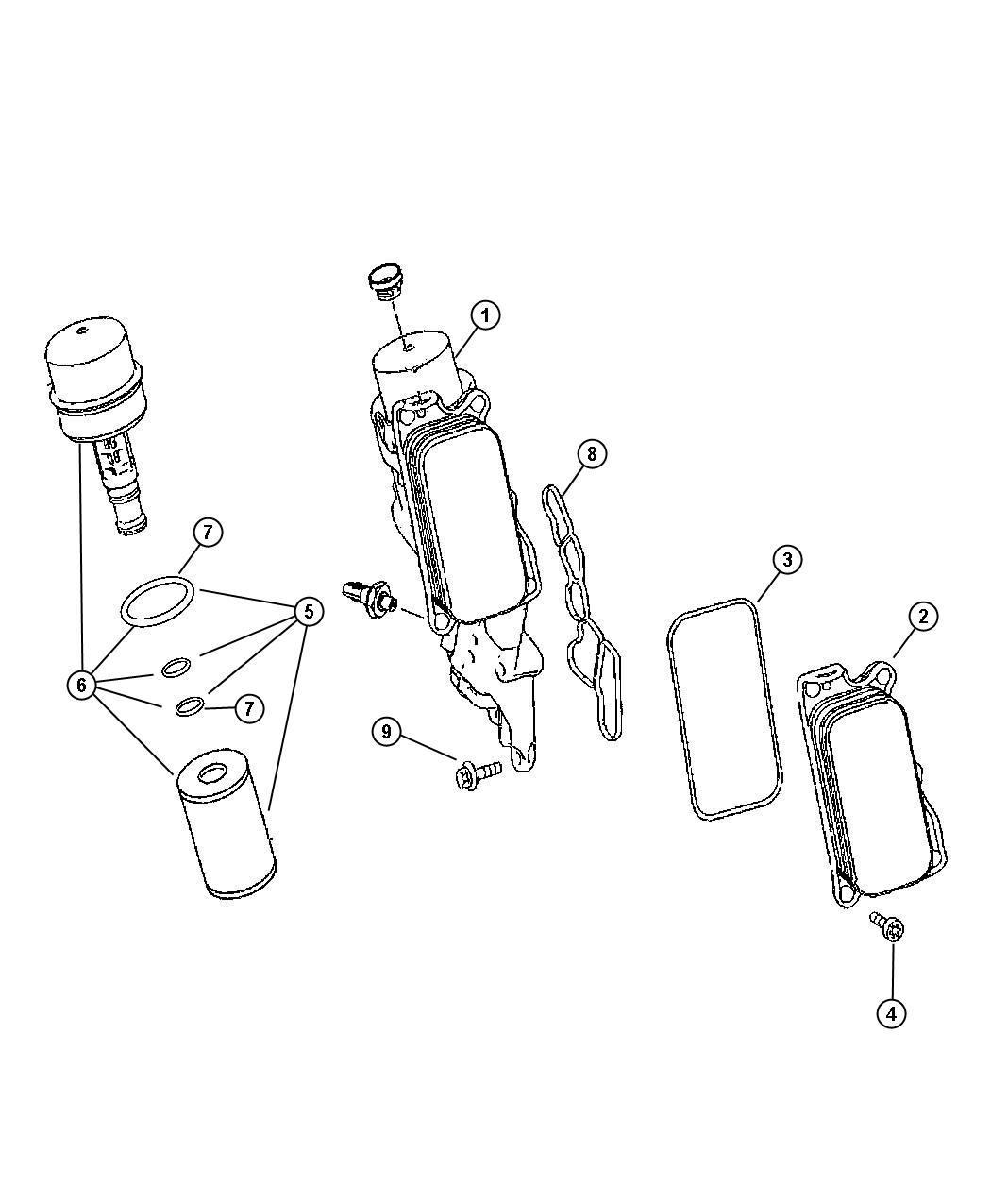 Dodge Sprinter Gasket Oil Cooler Engine