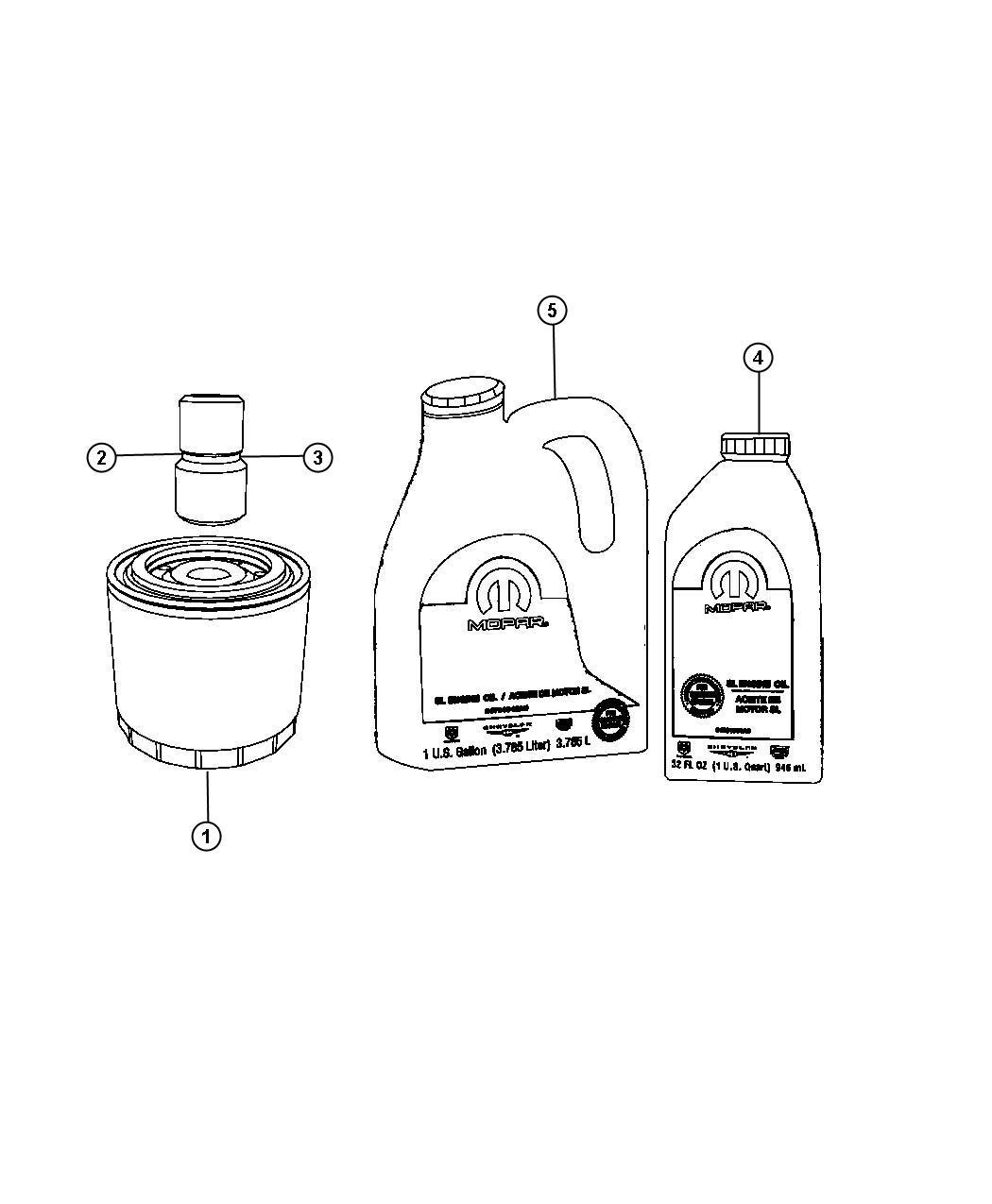 Chrysler Sebring Adapter Connector Oil Filter Oil