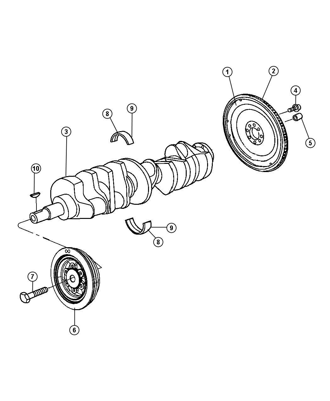 Dodge Viper Flywheel Includes Ring Gear Crankshaft