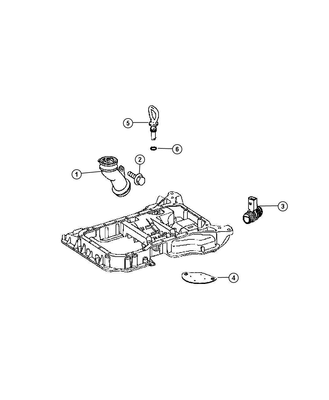 Dodge Sprinter Tube Oil Fill Engine Indicator Pan