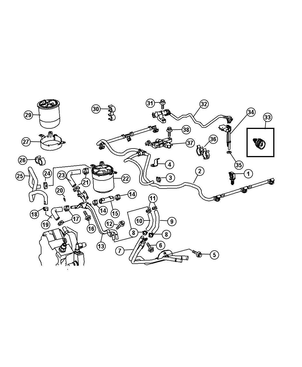 Dodge Sprinter Clamp Hose Fuel Lines Filter