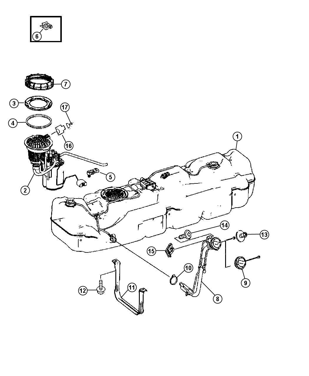 Dodge Sprinter Module Fuel Pump Level Unit Tank Sending