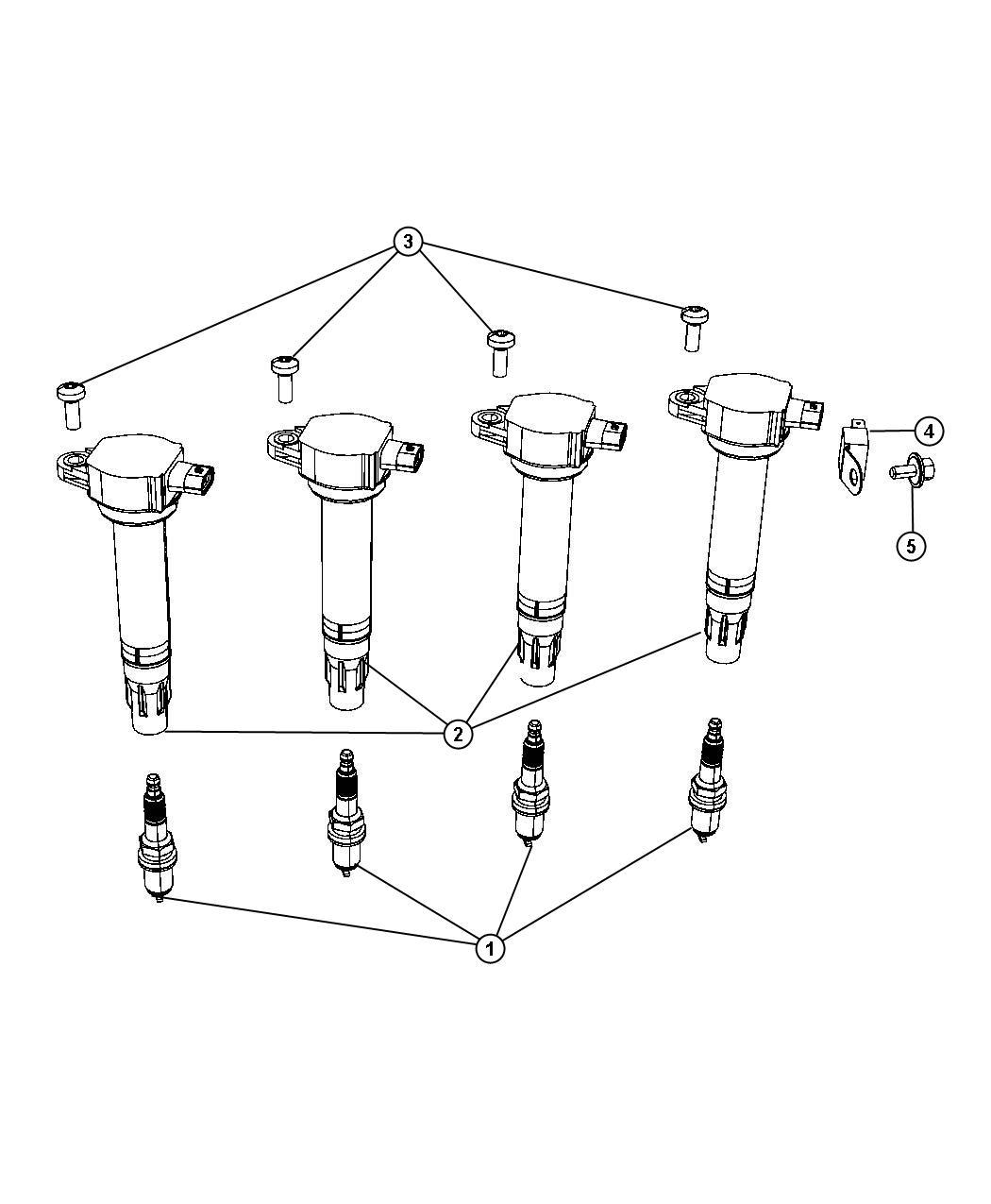Chrysler Sebring Spark Plug Resistor Plugs