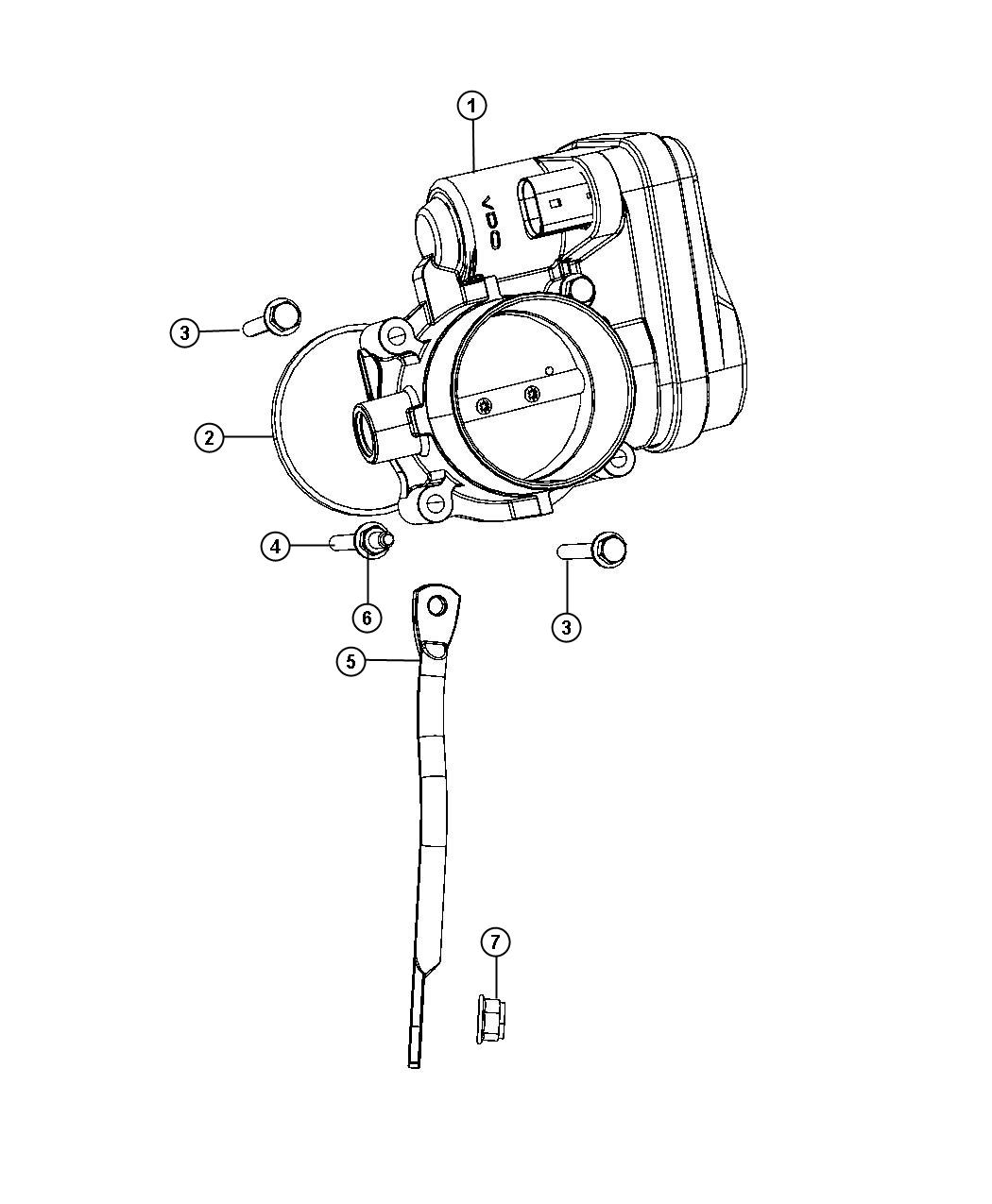 Dodge Journey Throttle Body Intake Manifold Plenum