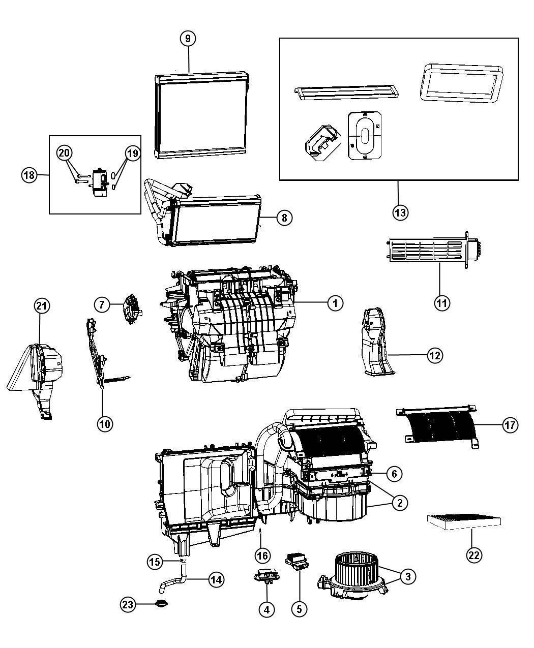 Dodge Journey Housing Blower Motor Instrument
