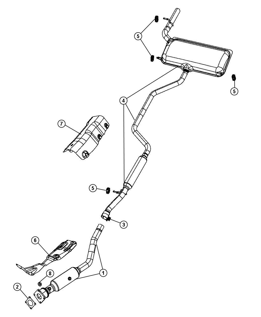 Dodge Journey Used For Muffler And Resonator Exhaust