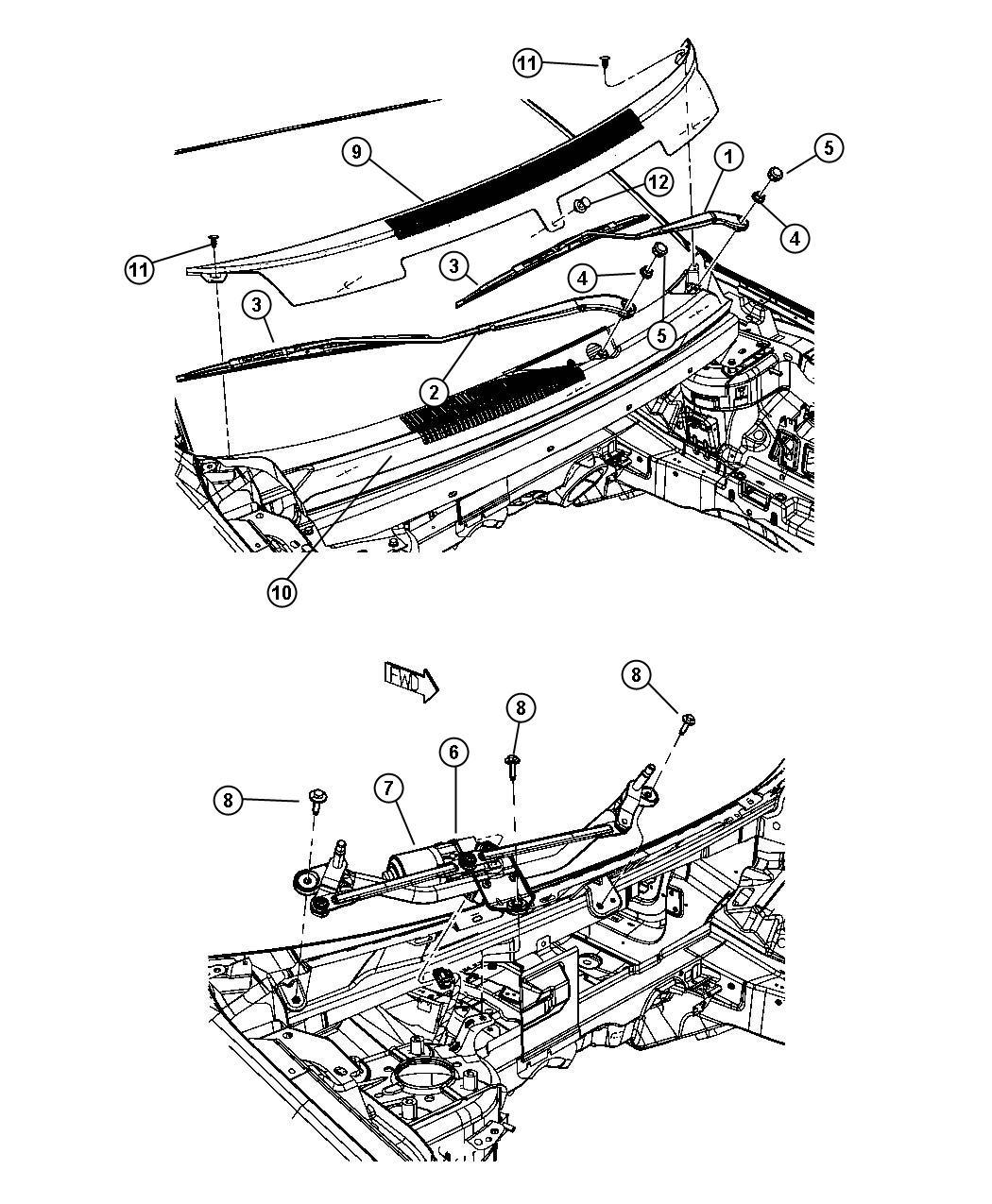 Dodge Journey Arm Front Wiper Right Intermittent