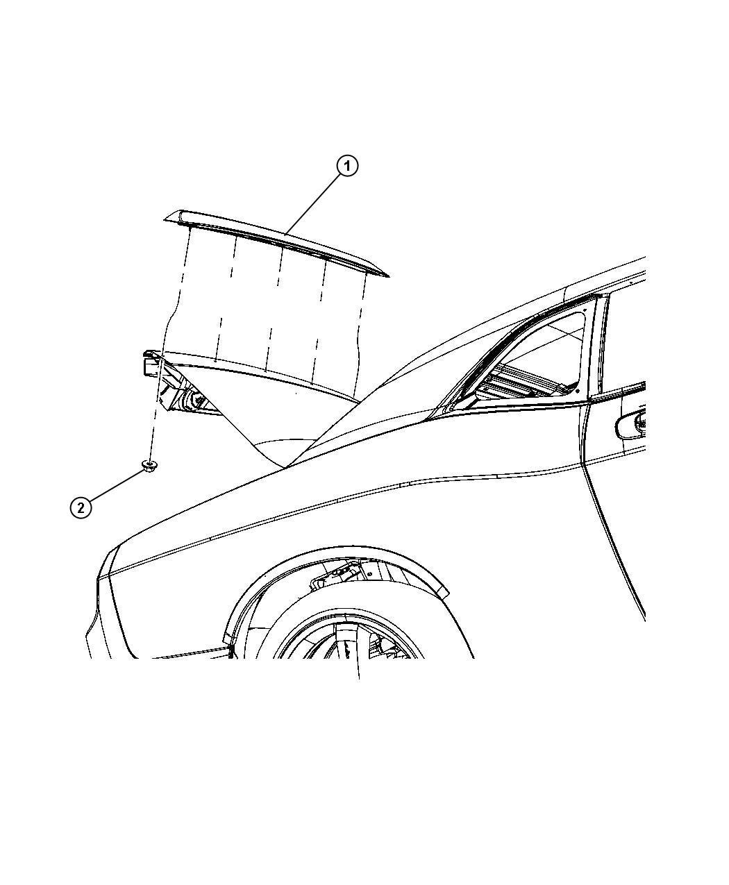 Dodge Challenger Clip Spoiler Attaching Spoiler