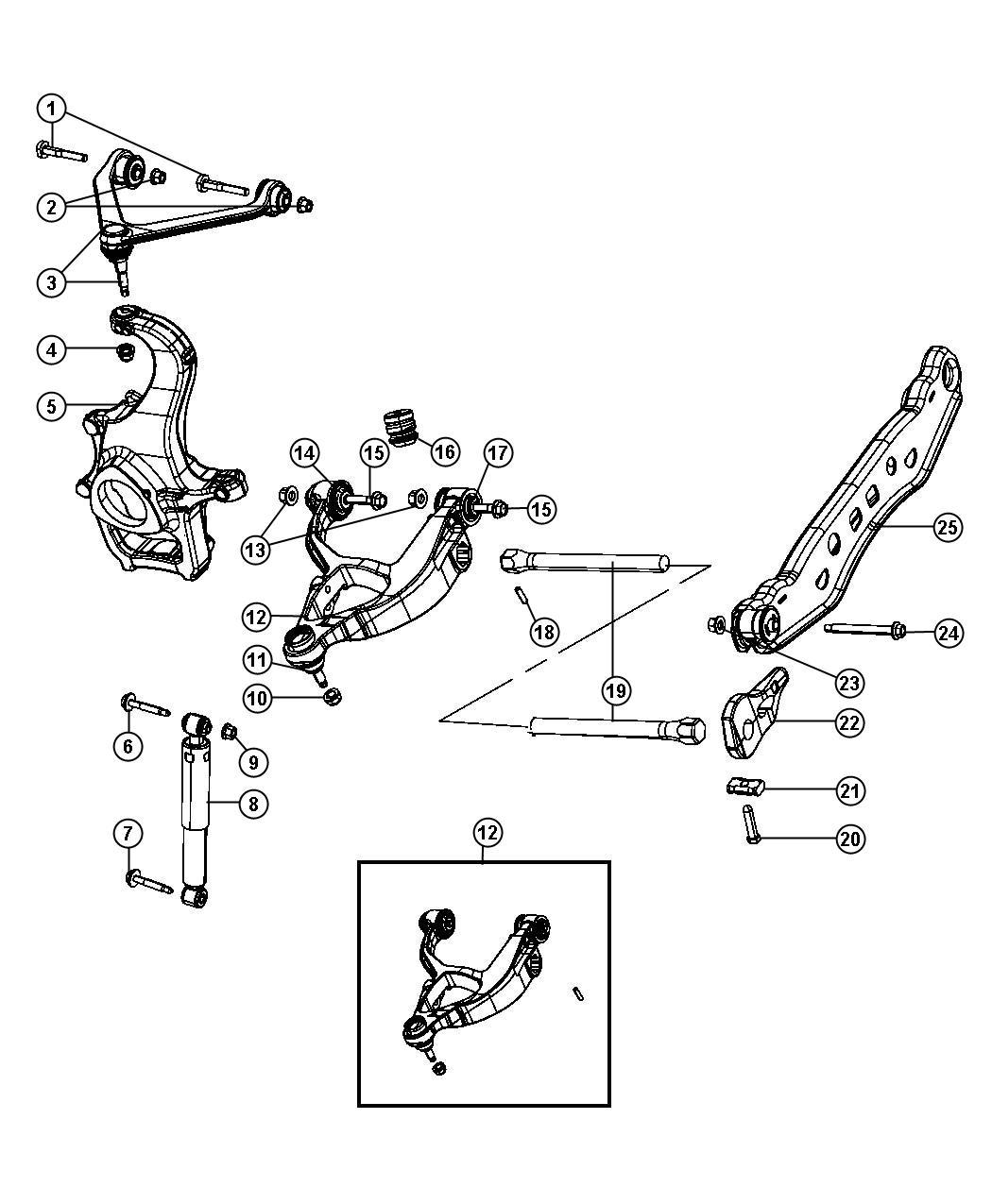 Dodge Durango Shock Absorber Suspension Front