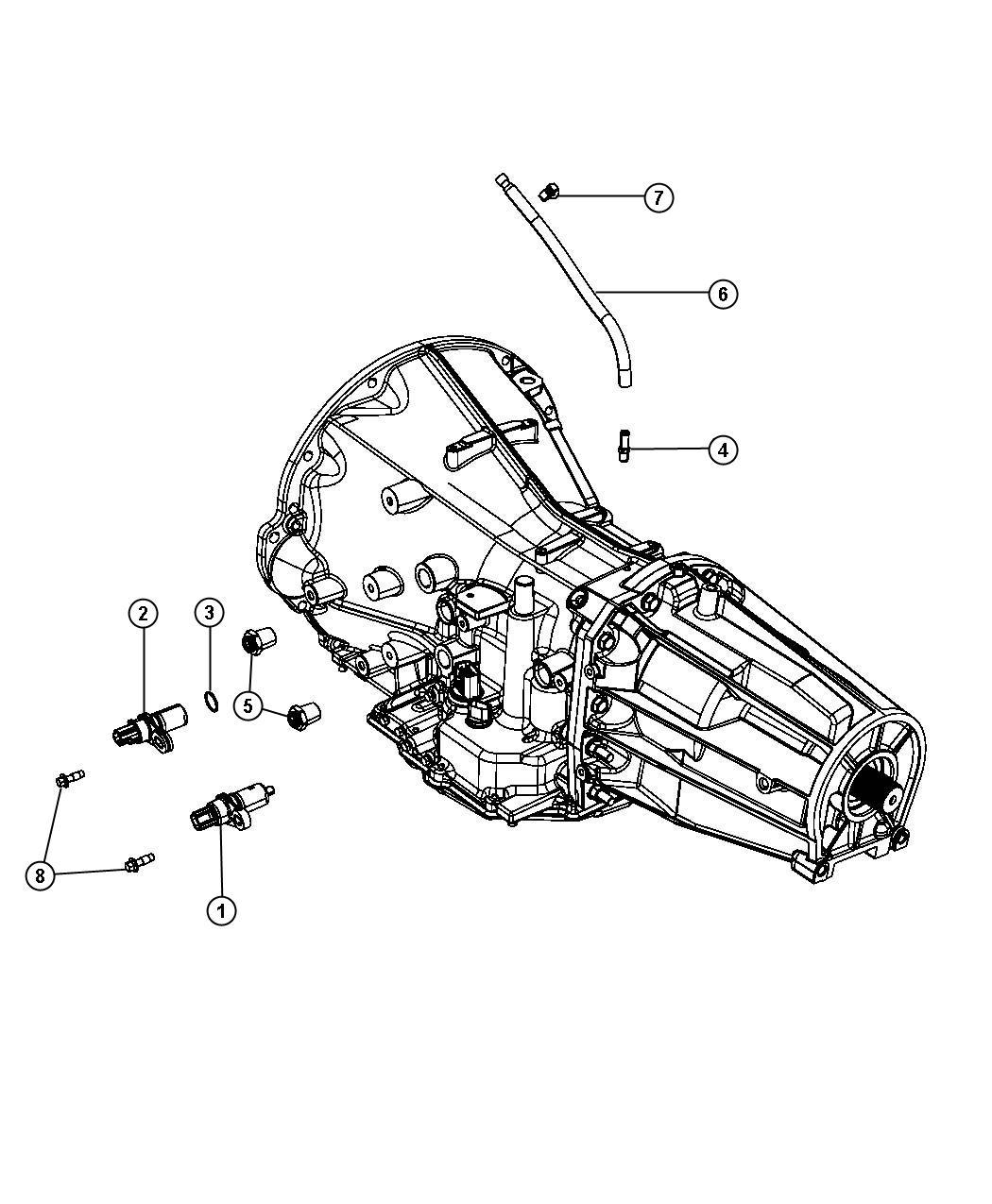 Dodge Durango Clip Transfer Case Vent Hose For Body 94
